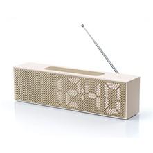 Titanium clock Radio - Producto High-Tech - dorado