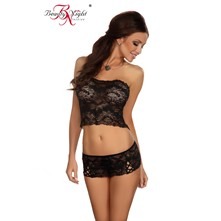 Lilianne - Top y short - negro