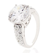 Solitaire Mon Amour Crystal - Anillo con Swarovski® Element - blanco
