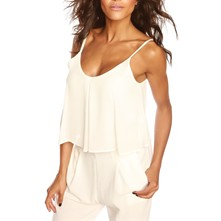 Ensemble top et pantalon - blanc