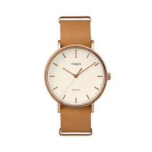 The Weekender Collection - Uhr mit Lederarmband - hellbraun
