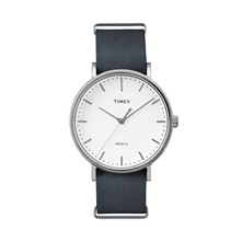 The Weekender Collection - Uhr mit Lederarmband - schwarz