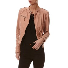 Strawberry - Chaqueta de cuero - beige