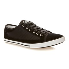 Sneakers con inserti in pelle - nero