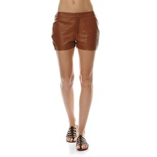 Marylin - Short en cuir - cognac