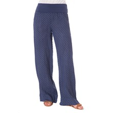 Pantaloni in lino - blu scuro
