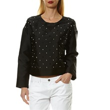 Milly - Blusa in misto seta - nero