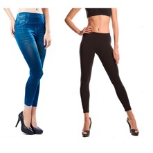 2 leggings snellenti anticellulite - nero