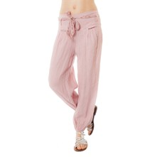 Pantalon en lin - rose
