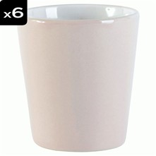 Mathis - 6er Set Becher - rosa