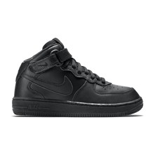Air Force 1 Mid (PS) - High Sneakers aus Leder - schwarz