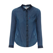 Modern one pocket - Camicia - blu