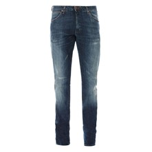 Larston - Jean recto - denim azul