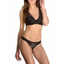 Tolly - Reggiseno push up e perizoma - nero