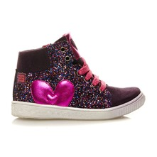 Mathilda - Sneakers con paillette in pelle - viola