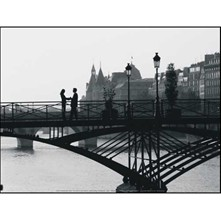 Couple sur un pont, Paris, France - Poster