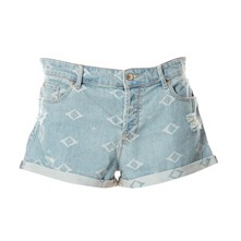 Mini short - denim azul
