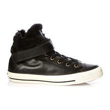 Ctas Brea Leather + Fur Hi - High Sneakers - schwarz