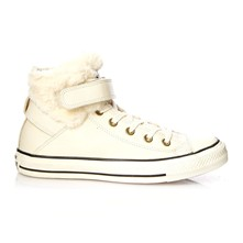 Ctas Brea Leather + Fur Hi - High Sneakers - weiß