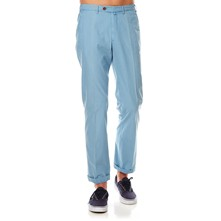 Pantalon - washed blauw