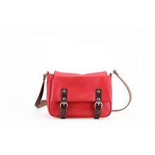 Basic - Borsa a tracolla in pelle - rosso