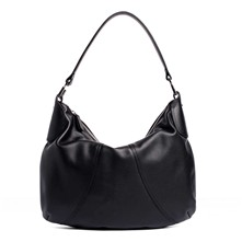 Alice - Borsa hobo in pelle - nero