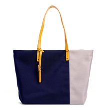Swana - Shopping bag in pelle - zafferano