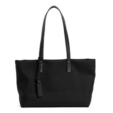 Swana - Shopping bag in pelle - nero