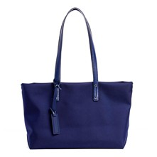 Swana - Shopping bag in pelle - blu slavato