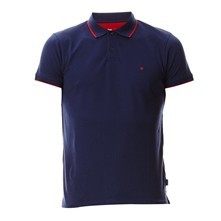 Pique Polo - Polo in misto cotone - blu scuro