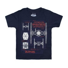 Tie Fighter Schematics - T-Shirt - marineblau