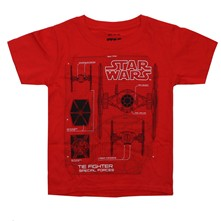 Tie Fighter Schematics - T-Shirt - rot