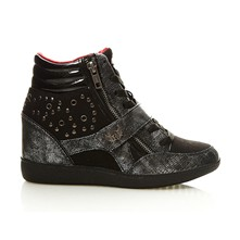 Space - Sneakers con zeppa - nero