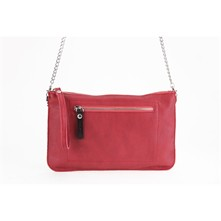 Aromatic - Clutch aus Leder - rot