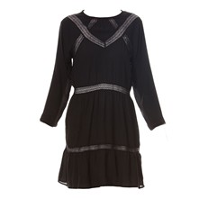 Janna - Kleid in Babydoll-Optik - schwarz
