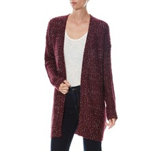 Gilet long - bordeaux