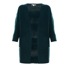 Strickjacke - blau