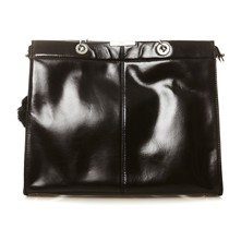 Shopping bag in pelle - nero
