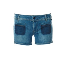 Shane - Mini short - denim azul