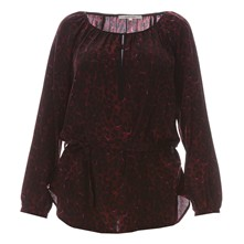 Blusa in seta - bordeaux