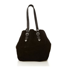 The Captain - Shopping bag in pelle scamosciata - nero