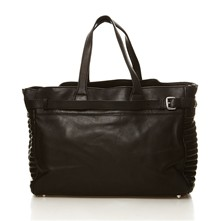 Soldier - Shopping bag in pelle - nero