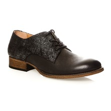 Punkylace - Derby in pelle - nero
