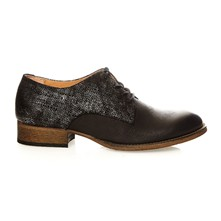 Punkylace - Derbies en cuir - denim noir