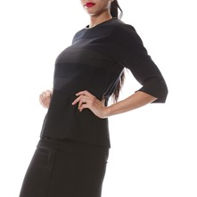 Top Peplum - negro