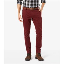 Bic Alpha skinny stretch - Pantaloni chino - bordeaux