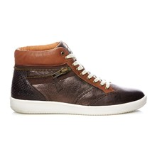 HAPPYZIP MARRON FONCE METAL - Sneakers - bruin en grijs
