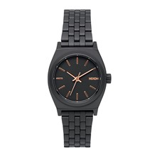 Small Time Teller - Montre casual - Noire / Or rose
