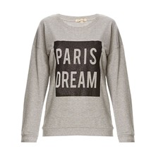 Sweat-shirt - gris chine