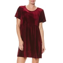 Robe en velours - bordeaux